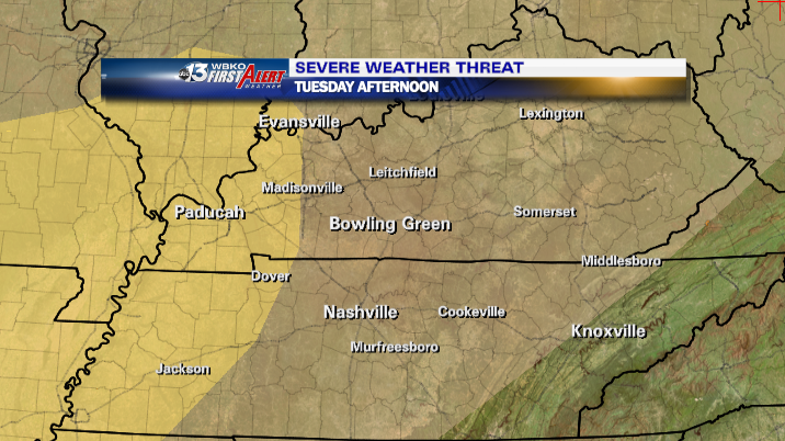 SPC Slight Risk area for Tuesday