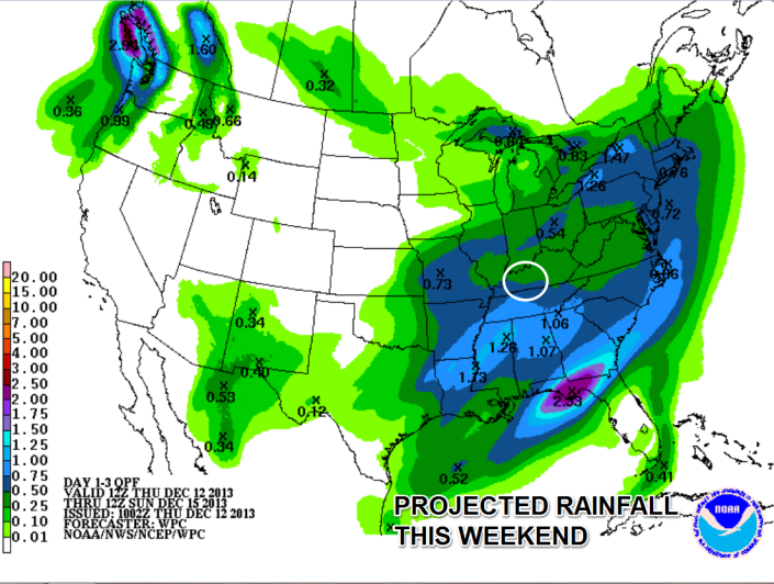 Rain returns for the weekend but could be mixed with sleet or snow at times.