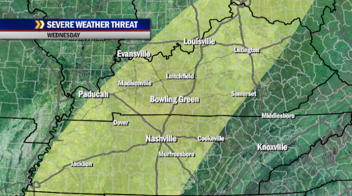 Potential for severe storms still exists for all of the WBKO viewing area on Wednesday.
