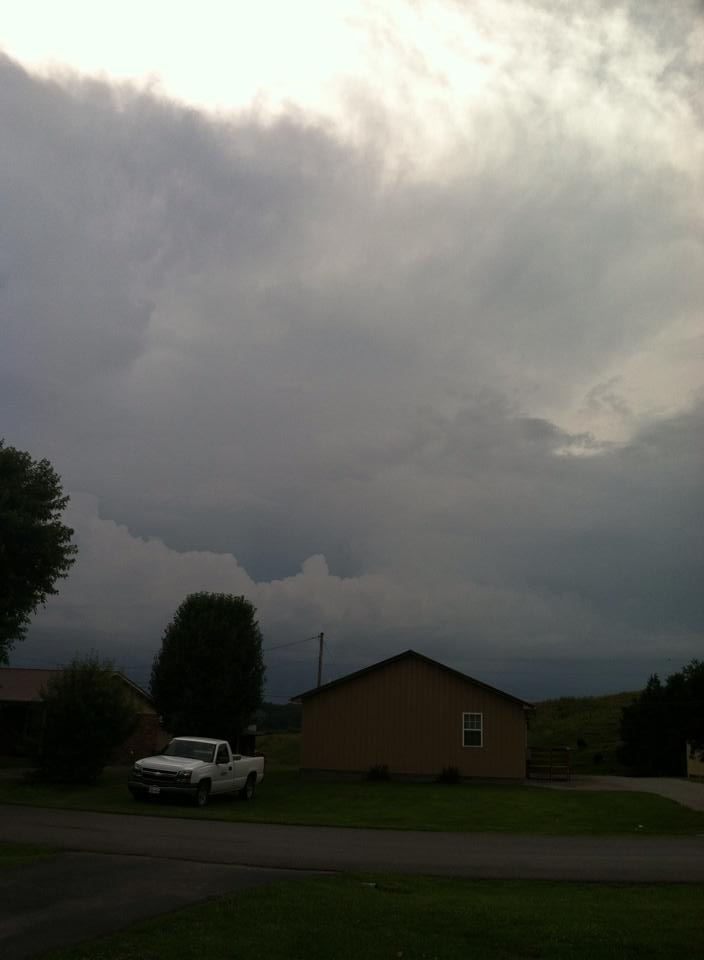 Great photo from Shanna Brown of Burkesville showing an incoming storm from Tuesday afternoon.