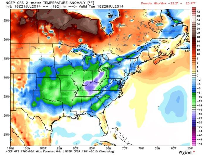Another shot of unseasonably cool air will arrive early next week which will bring temperatures in the Mid South down 20° below average!