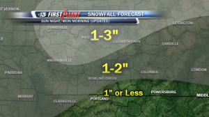Updated projected snowfall forecast posted at 11am Saturday.